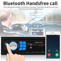 12V Car Radio FM Radio Bluetooth V5.0 Stereo Player Remote Control SD USB AUX MP3 Player Hands-free Calling Car Music Player