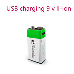 NEW 9V 650mAh lithium Rechargeable battery USB charging 9v li-ion Square battery for Remote Control KTV Multimeter Microphone