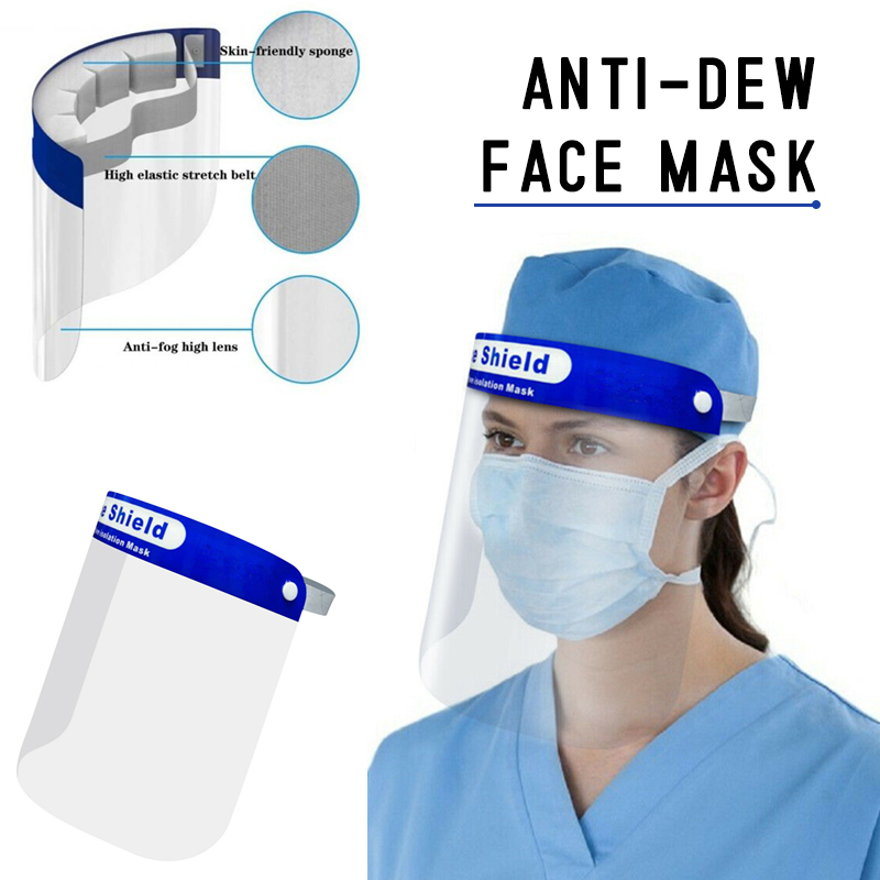 1PC Protective Adjustable Anti Droplet Dust-proof Full Face Cover Mask Visor Shield Droplet Windproof Face Shield Washable