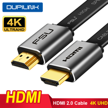 HDMI Cable 4K 60Hz HDMI 2.0 Flat Aluminum Alloy HDMI to HDMI Adapter Cable 0.5m 1m 1.5m 2m 3m for Splitter Switch PC TV Laptop