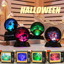 Halloween Lights Pumpkin Night Decoration Props Creative Retro TV LED Atmosphere Light Bar Home Droppshipping