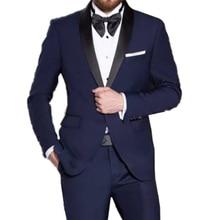 Разрешение синий мужской смокинг Свадебный портной свадебные костюмы для мужчин 2019 стильные синие костюмы со штанами костюм Homme Mariage