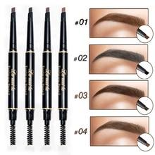 Dark Brown Black Waterproof Eyebrow Pencils Double-end Eyes Makeup Eye Brow Pen With Brush Cosmetic