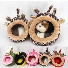 Warm Small Pet House Hamster Sleeping Puppy Kitten Home Bed Soft Guinea Pig Nest Mini Animals Hedgehog Christmas