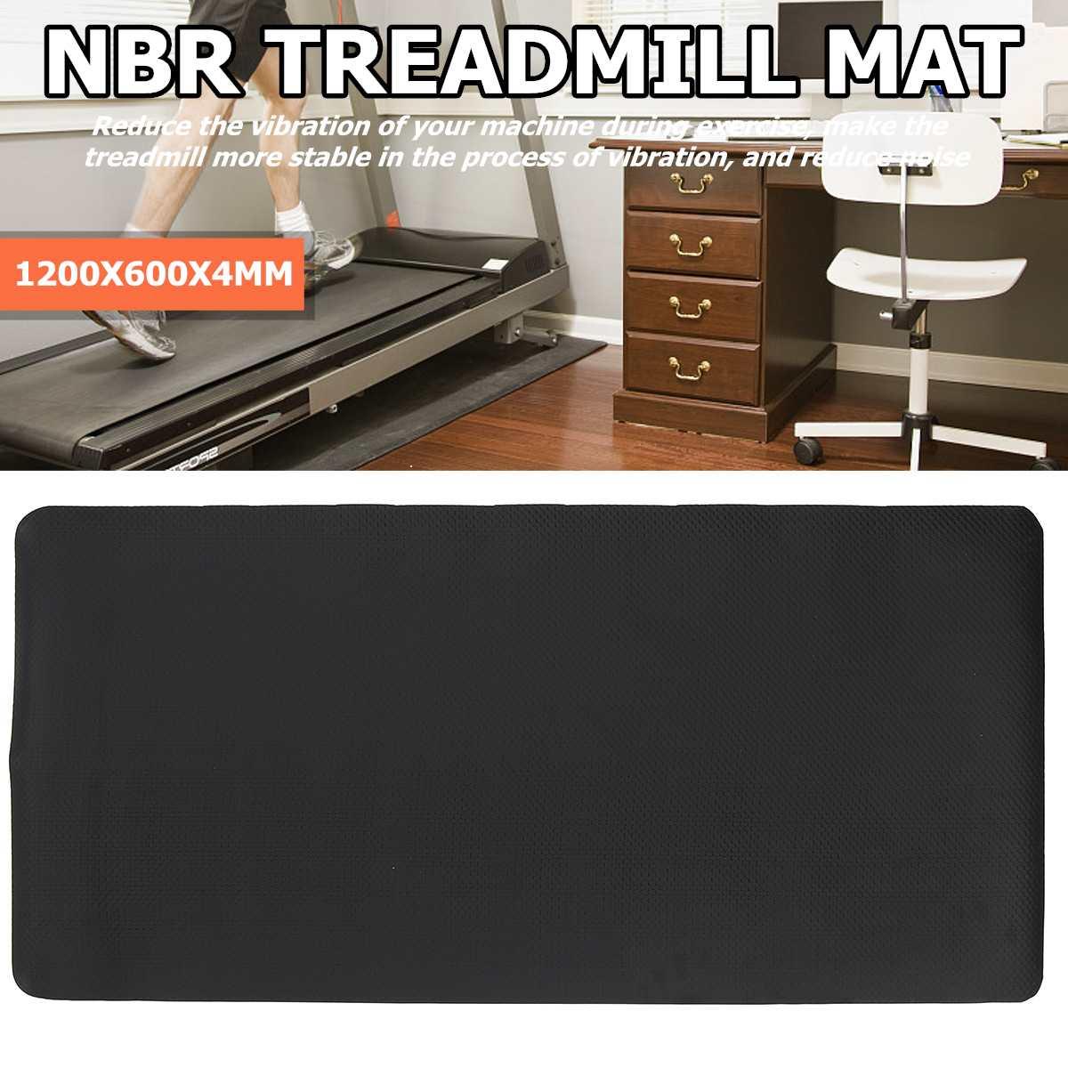 Treadmill Mat NBR Floor Protector Exercise Carpet Pad Shock Sound Proof Mats Treadmill Gym Fitness Equipment Mat 1200*600*4MM