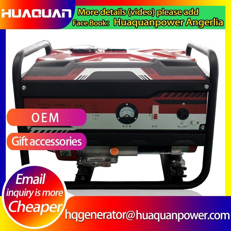 bem vendendo 220 volts 3kw mao comecar a ar refrigerado a gasolina gerador conjunto