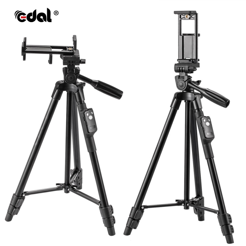 New 2 In 1 Universal For Tablet IPad Mount Holder Tripod Adapter & Phone Mount Universal Solid Black Color