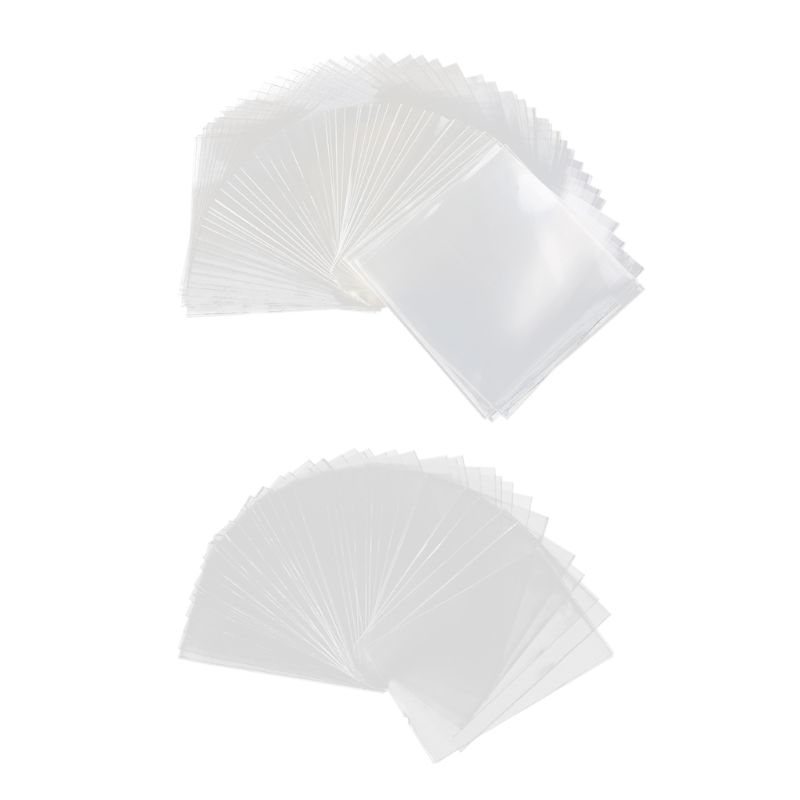 100pcs Plastic Transparent Card Sleeves Magic Board Game Tarot Three Kingdoms Poker Cards Protector 8.2*8.2/5.8*8.8cm