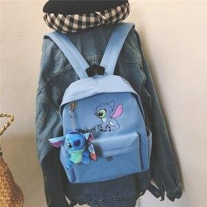 Image 2 - לילו תפר תרמיל נשים בד כתף תיק לנערות ילדים רב פונקציה קטן Bagpack נקבה גבירותיי בית ספר תרמיל