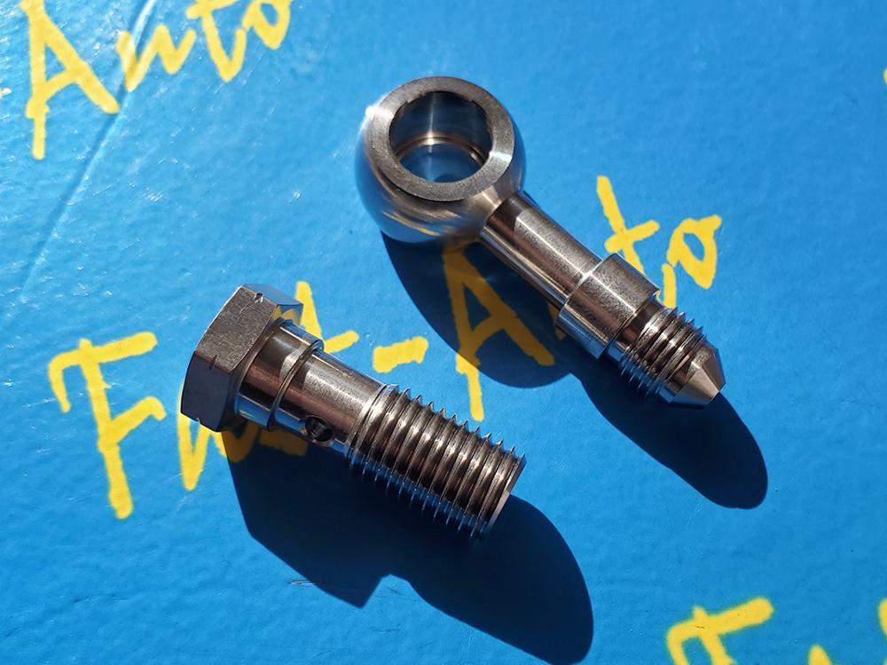 Parafuso de aço inoxidável de banjo m12 p1.25 m12 * 1.25 m12 x 1.25 adaptador para-4an an4 an-4 7/16unf combustível mangueira de óleo encaixe final-1