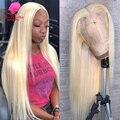 13x4 13x6 360 613 Кружева передние парики предварительно собранные человеческие волосы длинные бразильские прямые волосы, блонд, эффектом деграде...