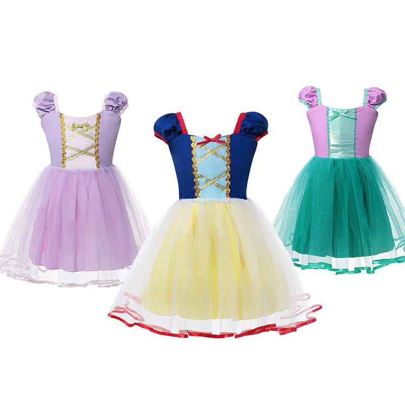 Детский костюм Русалочки Ариэль для косплея, маленькая Русалочка, платье принцессы, комплект детской одежды на Хэллоуин