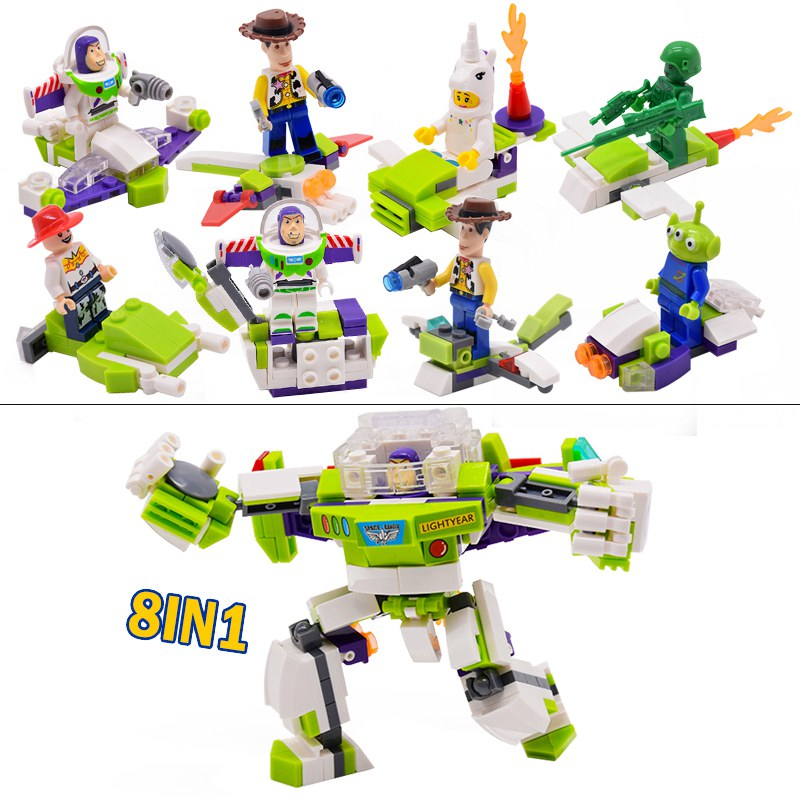 8in1 Toy Story 4 Compatible Original Buzzed Blocks Set Lightyear Space Mech Building Bricks Movie 2 Legoinglys Toys For Children
