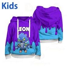 WEREWOLF Leon Children's Wear Kids Hoodies Shooting Game 3d Print Hoodie Sweatshirt Boys Girls Harajuku Long Sleeve Jacket Teen