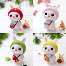 Nonvor Creative Rabbit Animal Handmade Toy Doll Kitting Non-Finished DIY Wool Felting Package MaterialArts Crafts Needlework