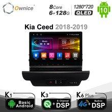 Ownice Android 10.0 Kia Ceed 2018   2019 için araba radyo oto multimedya 1280*720 Video sesli GPS oyuncu ünitesi k7 gelen 6G + 128G