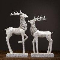 Fancy Fengshui deer resin abstract European deer 799 deer living room TV cabinet Xuanguan swing piece soft decoration handicraft