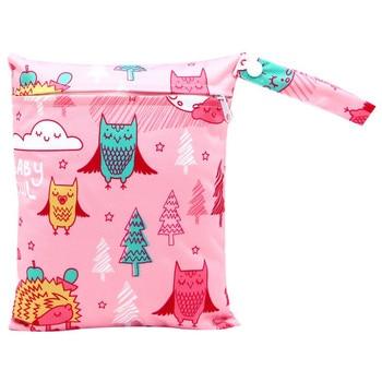 20*25cm Mini Diaper Wet Bag Single Pocket Zipper Baby Bags For Mom Maternity Travel Stroller Bag PUL Nappy Diaper Bag Wetbag - AS-MB-20