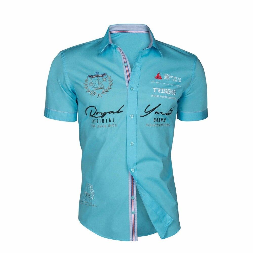 Zogaa 2020 Summer Men Casual Shirts Slim Fit Men's Casual Button Down Shirt Short Sleeve Formal Dress Shirts Men Male Clothing 5