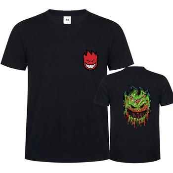 Los jóvenes Destripador Spitfire T camisas hombres hip hop Zombie diseño Spitfire ruedas Camiseta Masculina jersey patinetas cráneo Tee