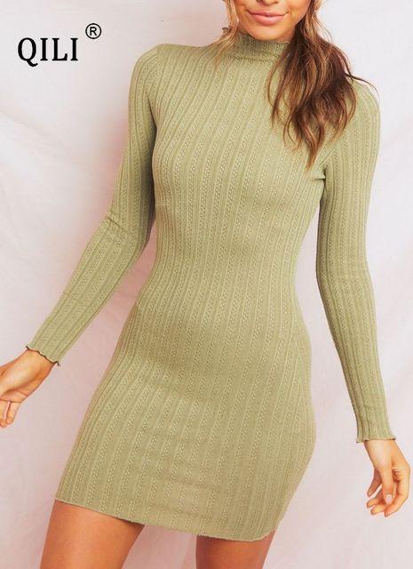Фото женское трикотажное платье qili короткое облегающее с запахом цена