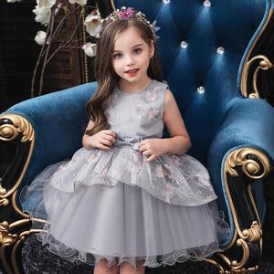 Image 3 - baby summer dress Girls embroidered dress enfant birthday Princess Dress bow floral childrens Puff dresses 1 5y girl vestidos