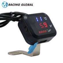 ALCON-Racing KOSO Motorcycle Voltmeter Temperature Voltage Display Gear Indicator With USB Charge Universal High quality