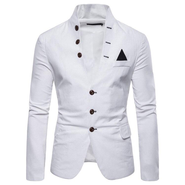Suit Spring Buckle Decorative Men's Casual Collar Suit Men White Blazer Blazers Men Suits Mens Suits Blazers Mens Stage Jackets