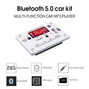 Image 3 - Bluetooth 5.0 MP3デコーダのデコードボードモジュール5 v 12v車のusb MP3プレーヤーwma wav tfカードスロット/usb/fmリモートボードモジュール
