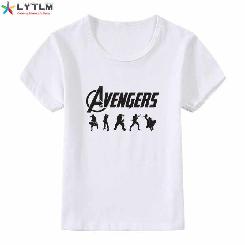 LYTLM Avengers Endgame Tshirt kapitan ameryka Iron Man Hulk Hawkeye Thor dzieci koszule pełne rękawy ubrania dla dzieci fajne chłopcy koszulki