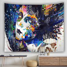 waterfall mountain rock natural scenery print tapestry wall hanging real effect lifelike bohemian wall blanket hippie carpets Abstract Poeple Witchcraft Tapestry Hippie Wall Hanging Carpets Macrame Tarot Mordern Psychedelic Polyester Blanket Gothic Decor