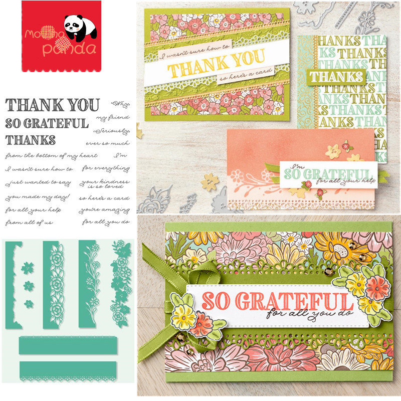MP097 English French German Dutch THANK YOU Metal Cutting Dies And Stamps Embossing Die Stencil For DIY Scrapbooking