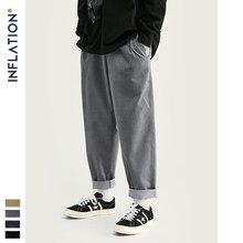 INFLATION 2020 Collection large Wale hommes velours côtelé pantalons coupe ample salopette couleur unie hommes velours côtelé décontracté rue pantalon 93326W