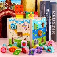 Intelligence box brain game Set of columns wisdom Shape matching Wooden child Early education Multifunction