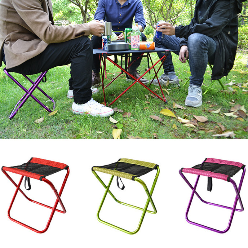 Outdoor folding fishing chair Ultralight portable folding Camping Breathable Mesh Picnic fishing chair with bag beach chair