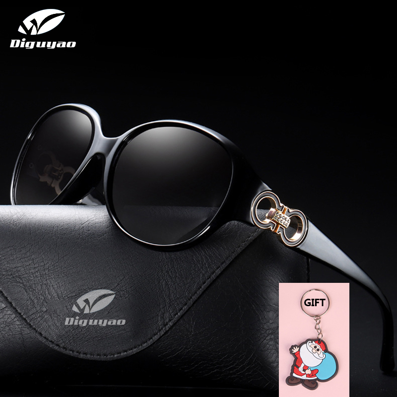 DIGUYAO luxury Brand design Sunglasses Diamond decoration Oval vintage sun glasses Women shades polarized uv400 high quality