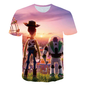 4-14 Years Toy Story Forky Alien Cartoon Print T-shirts Boy&Girl Buzz Lightyear/Woody Funny Gift Tshirt Baby Tops Kids Casual(China)