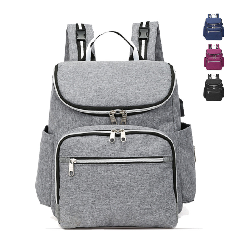 Manufacturers New Style Korean-style Multi-functional Large-Volume MOTHER'S Bag Classic Fashion Shoulder Waterproof Mom Bag Stra