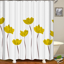 Custom Size Shower Curtain Beautiful Colorful Tulip Flowers Shower Curtain