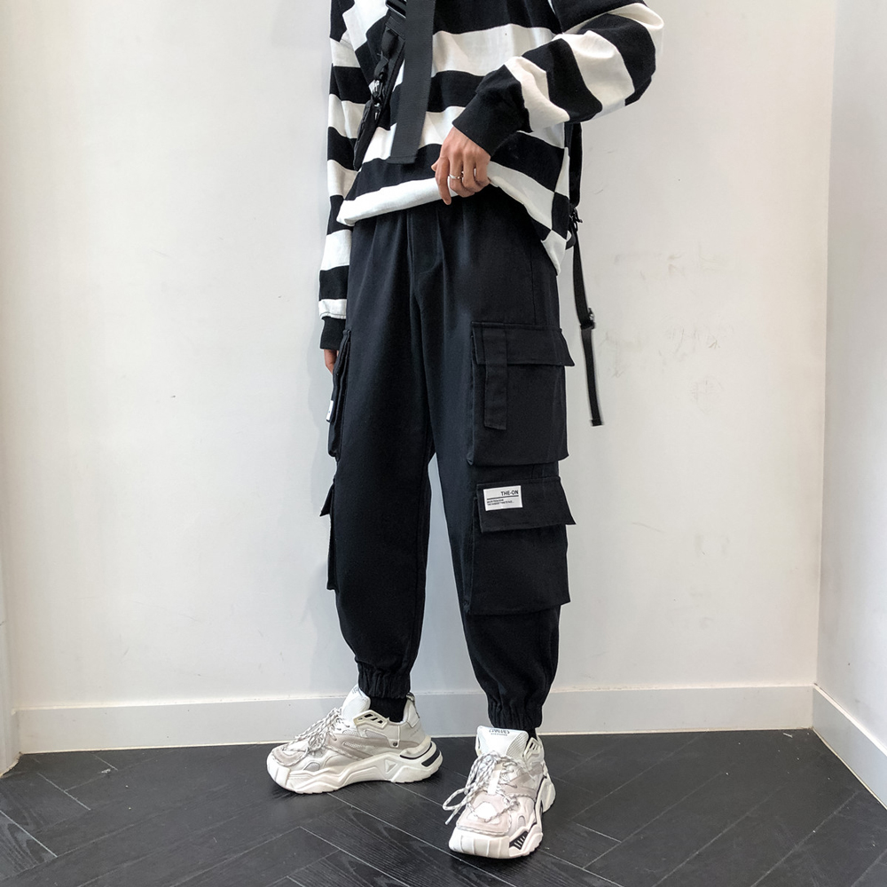 RLJT.JIN 2019 Hot Cost-effective mens casual pants Pencil pants with multiple pockets High street fashion men trousers