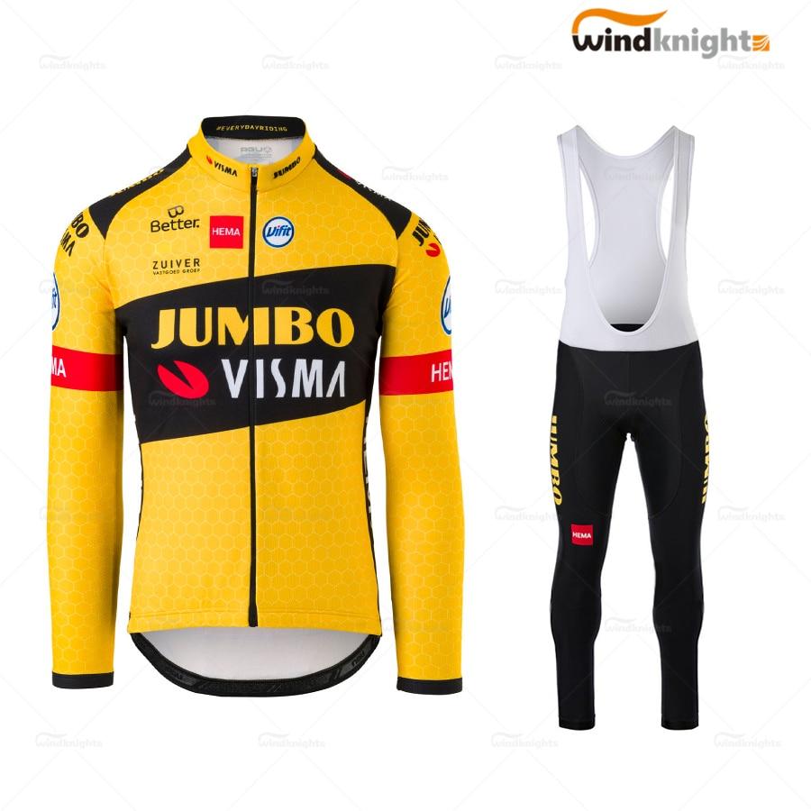 2020 Nouveau Homme Team cycling jersey Cycling Long Sleeve Jersey et bavoir Pantalon Set