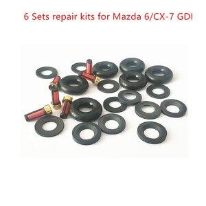 Image 2 - Juego de reparación de inyectores de combustible para Mazda, conjunto de 6 piezas para CX 7 E7T2017 1 y L3K9 13 250A, Envío Gratis, para Mazda 3, 6, AY RKG901, 2,3, Turbo GDI