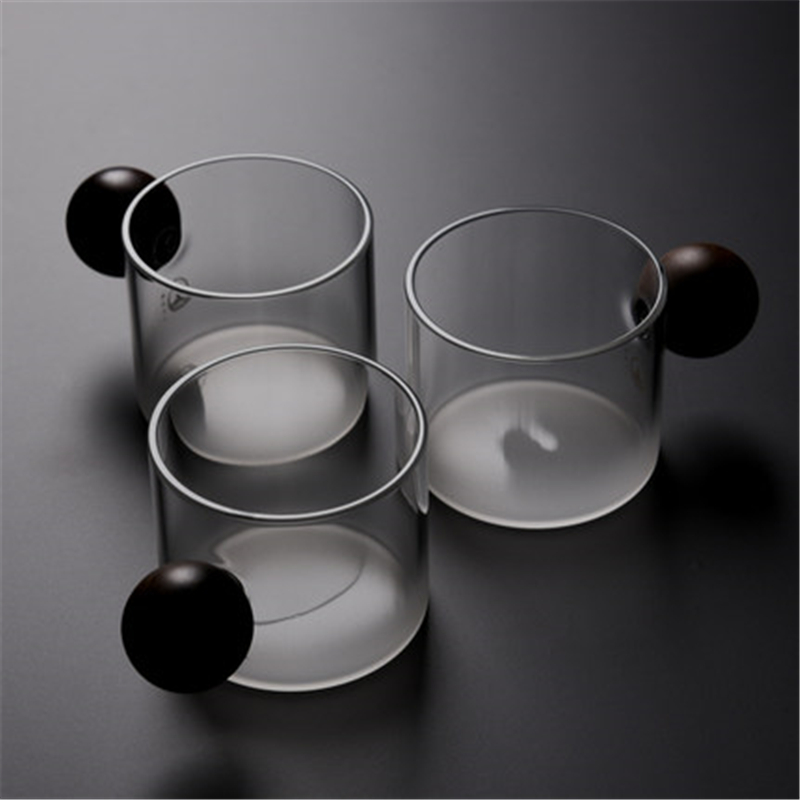 Transparent Glass Cup With the Special Handle Tea Drinkware Milk office Cups the Best birthday Gift with gift Box