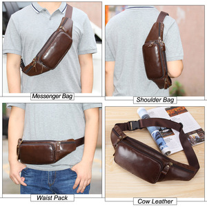Image 5 - Flanker Genuine cow leather men waist bag casual small fanny pack travel waist pack cell phone bag crossbody bags man chest bag