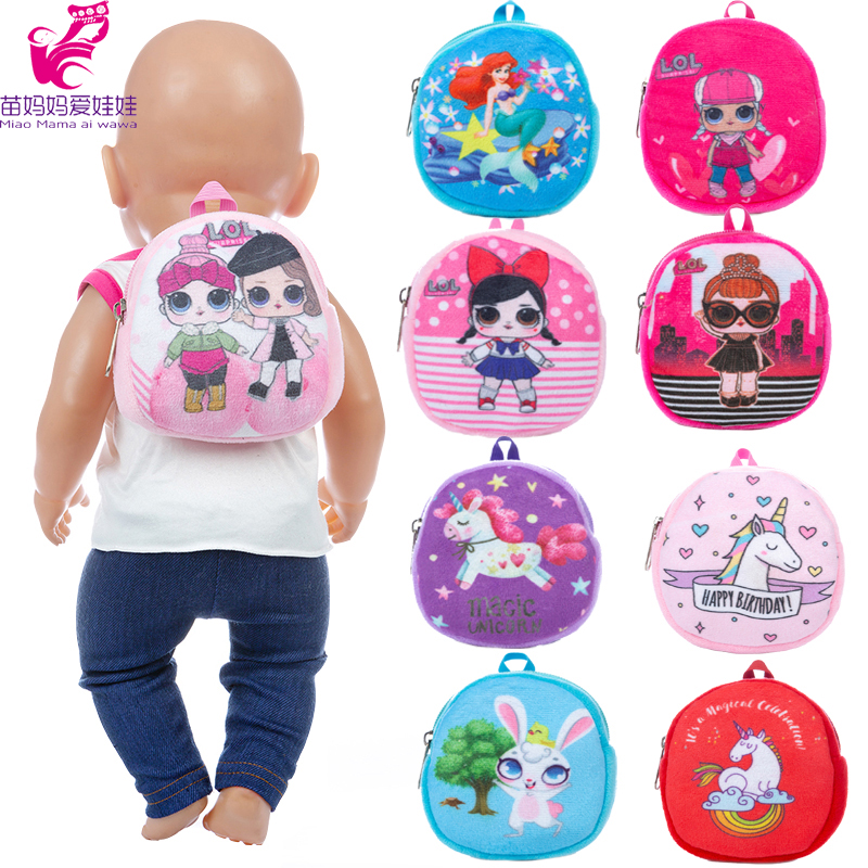 Dolls Out Going Carry Bag School Bag Doll Accessories For 43cm Baby New Born Doll 18 Inch Doll Backpack Cion Bag