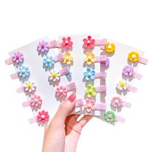 10 sztuk spinka do włosów dla dzieci klipy dziewczyna zestaw akcesoriów do włosów stroik kolorowe kwiaty Daisy owoce w stylu kreskówki mieszane kolor hurtownia tanie tanio CN (pochodzenie) NYLON dla dziewczynek 7-12m 13-24m 25-36m 4-6y 7-12y Floral baby Kids Headwear Children s Day Gifts Support Retail