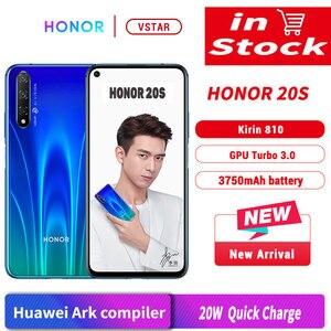 Image 1 - Original Honor 20 S Honor 20S SmartPhone 6.26 Kirin 810 Octa Core Android 9.0 Fingerprint unlock GPU Turbo 3.0