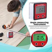 купить Precision Digital Protractor Inclinometer Level Box Waterproof Angle Finder Measure Bevel Box With Magnet 90 degrees Gauge Ruler дешево