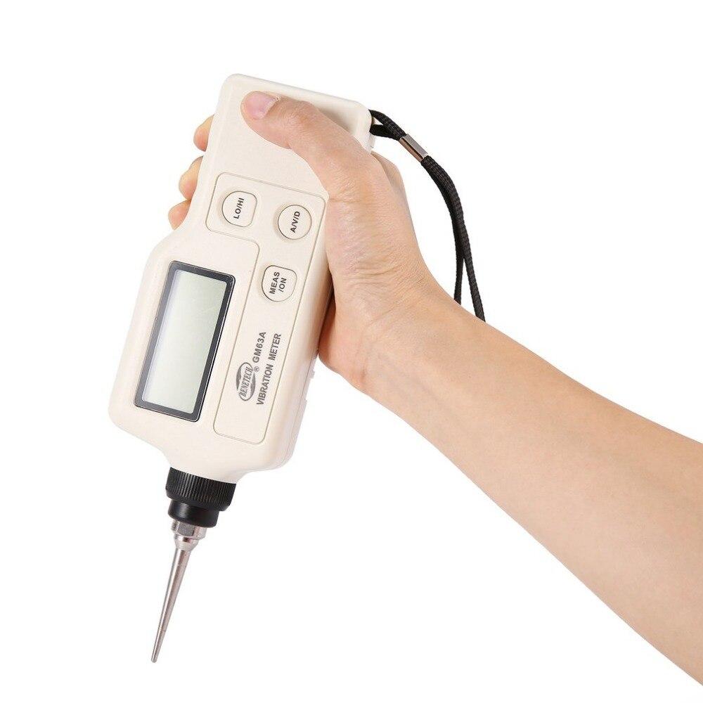 GM63A портативный цифровой виброметр ручной Виброметр тестер Устройство измерения вибрации анализатор Калибр