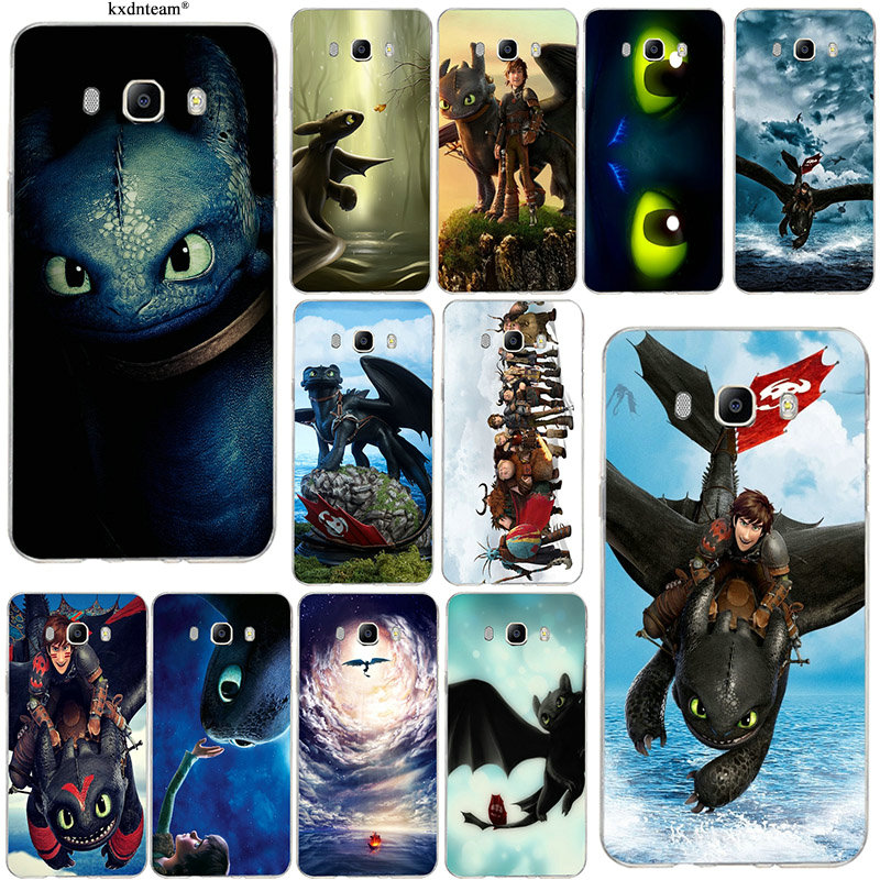 Soft TPU Silicone Mobile Phone Cases for Samsung Galaxy J1 J2 J3 J5 J7 2015 2016 2017 Coque Shell Toothless Train Your Dragon image
